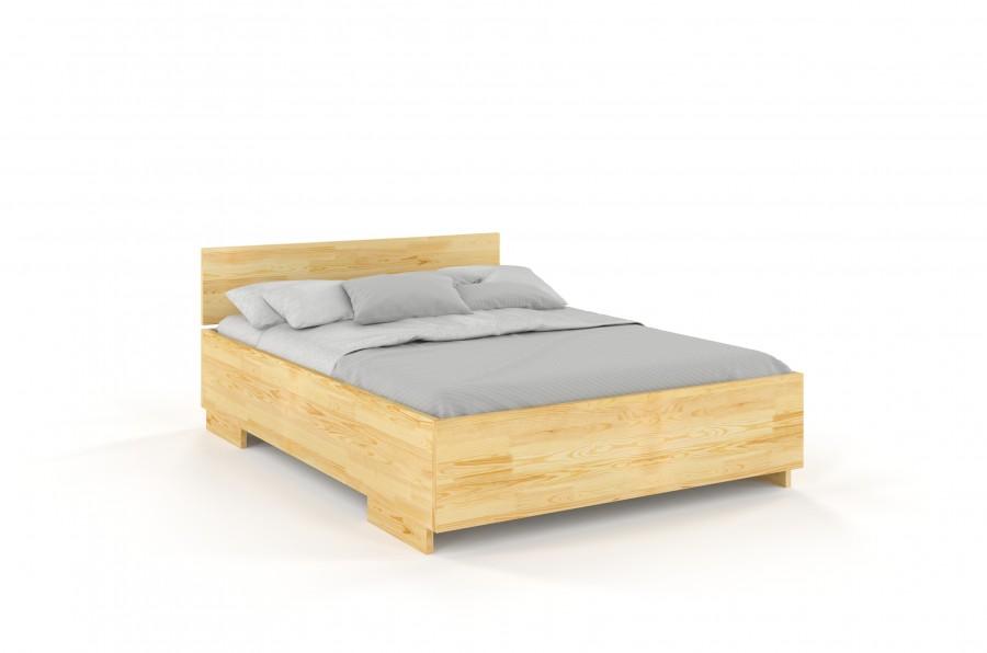 Łóżko drewniane sosonowe z pojemnikiem BERAM naturalny