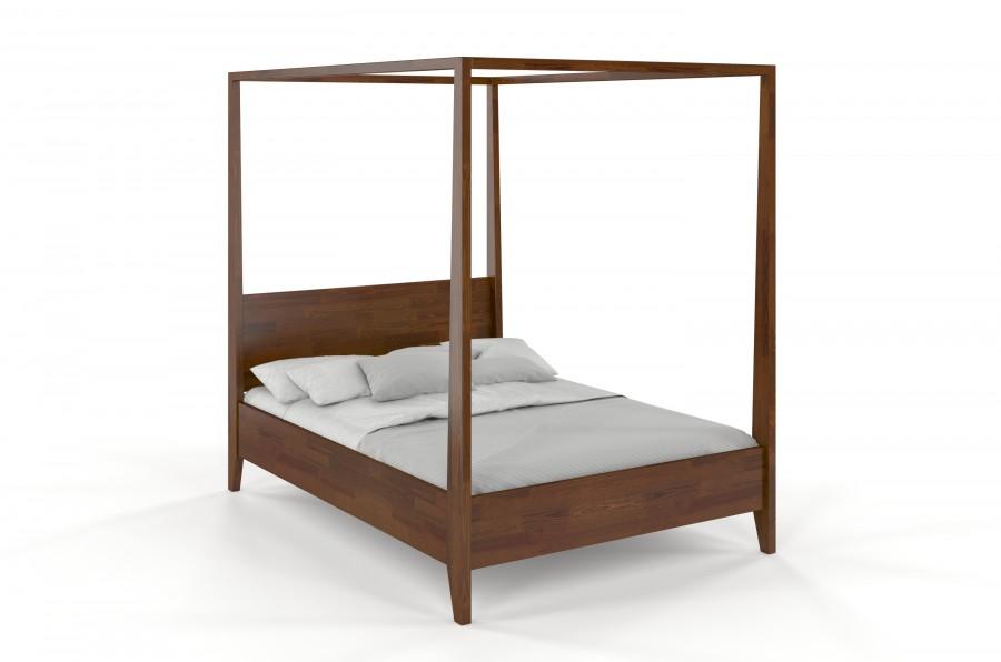 Łóżko drewniane bukowe KLARA orzech