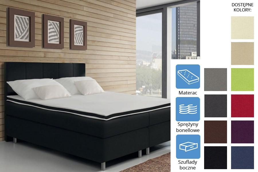 Łóżko Arkansas z szufladami bocznymi Bonell