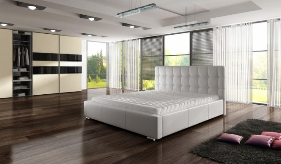 Łóżko tapicerowane Bondy z pojemnikiem