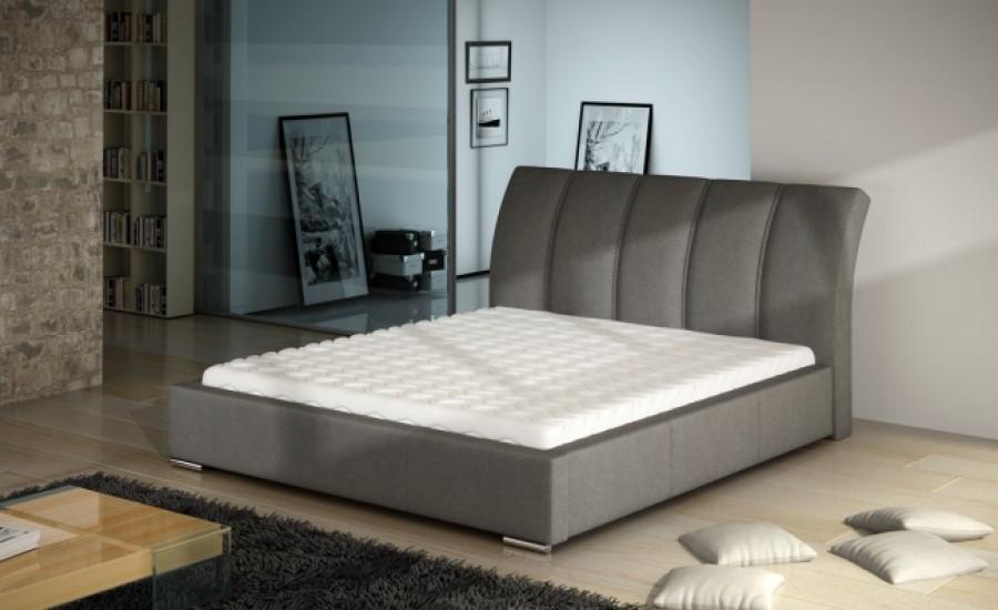 Łóżko tapicerowane Bron z pojemnikiem