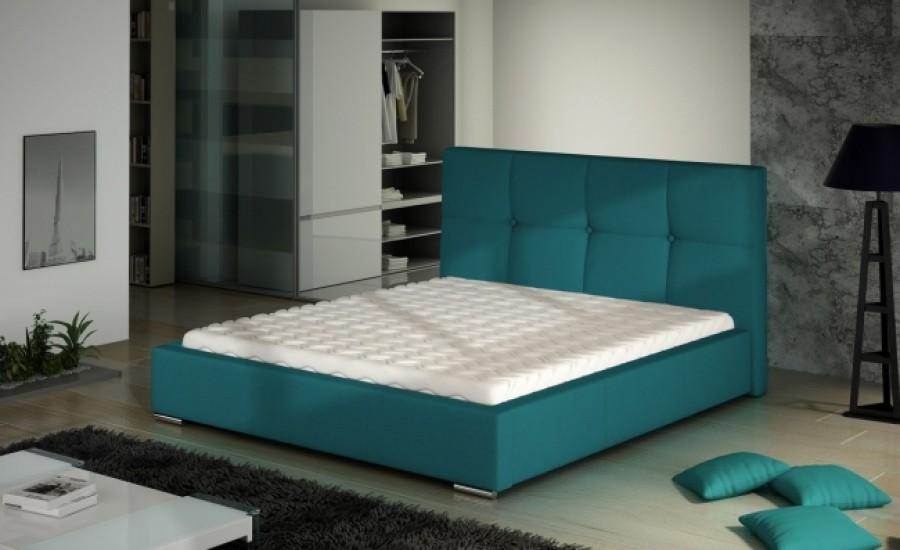 Łóżko tapicerowane Cholet z pojemnikiem