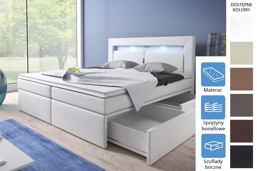 Łóżko Dakota z szufladami bocznymi Bonell