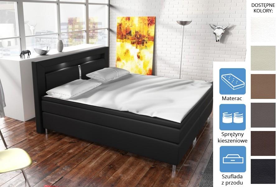 Łóżko Dakota z szufladami z przodu Pocket