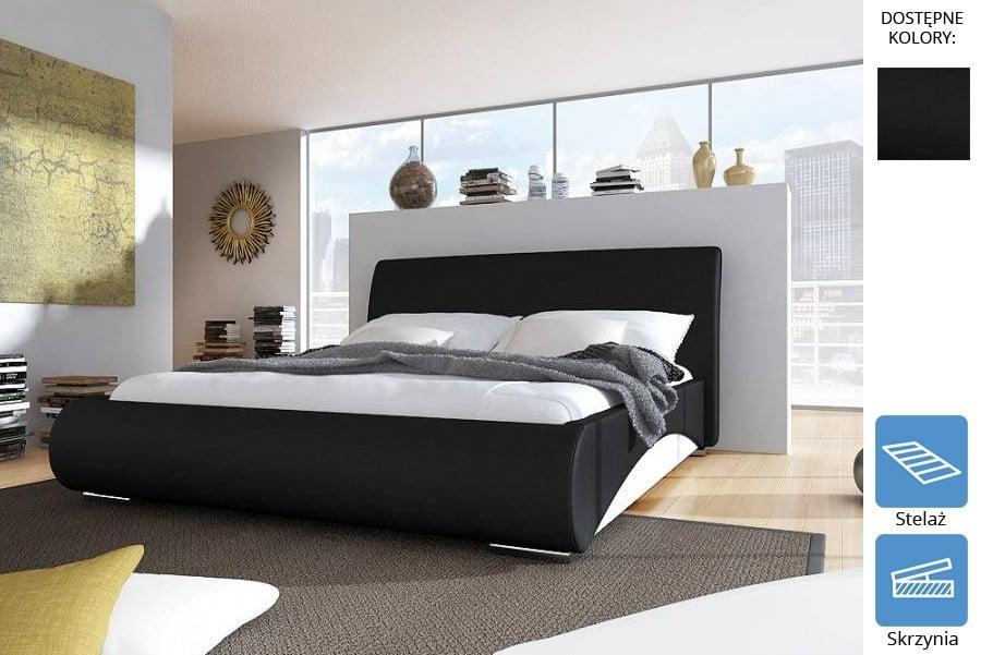 łóżko Tapicerowane Damian Z Pojemnikiem łóżka Materace