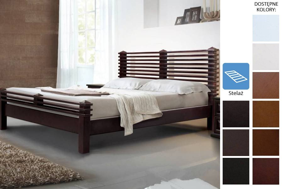 Łóżko drewniane Edam