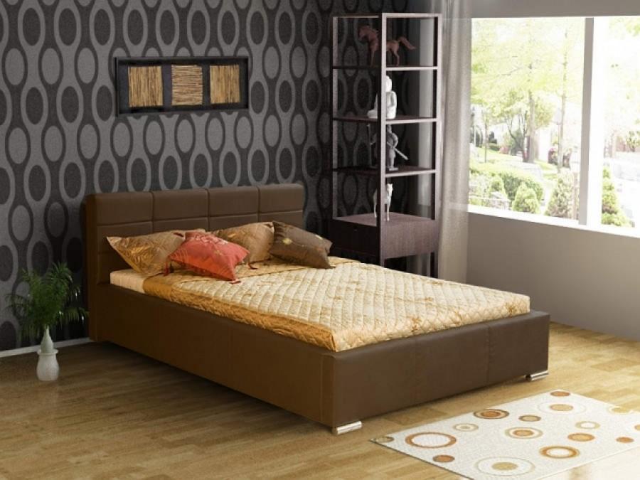 Łóżko tapicerowane Forbach z pojemnikiem