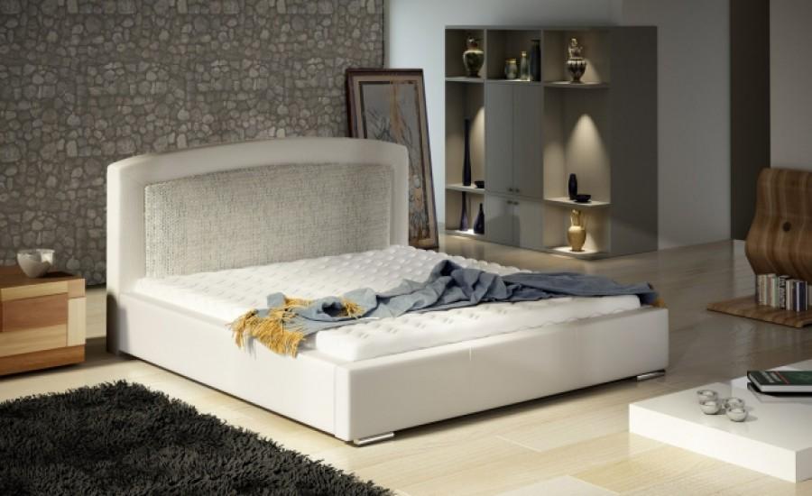 Łóżko tapicerowane Grasse z pojemnikiem