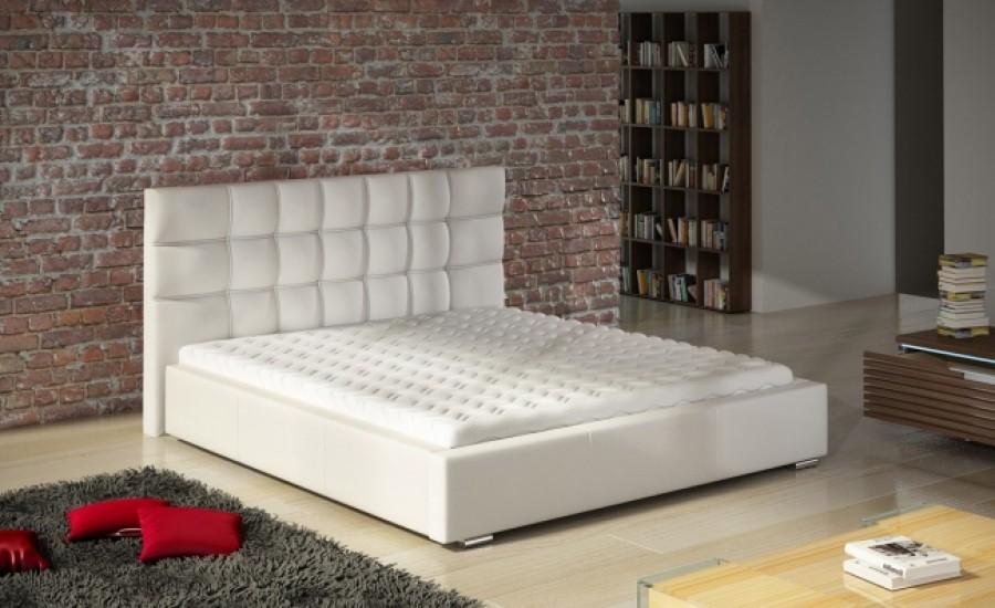 Łóżko tapicerowane Istres z pojemnikiem