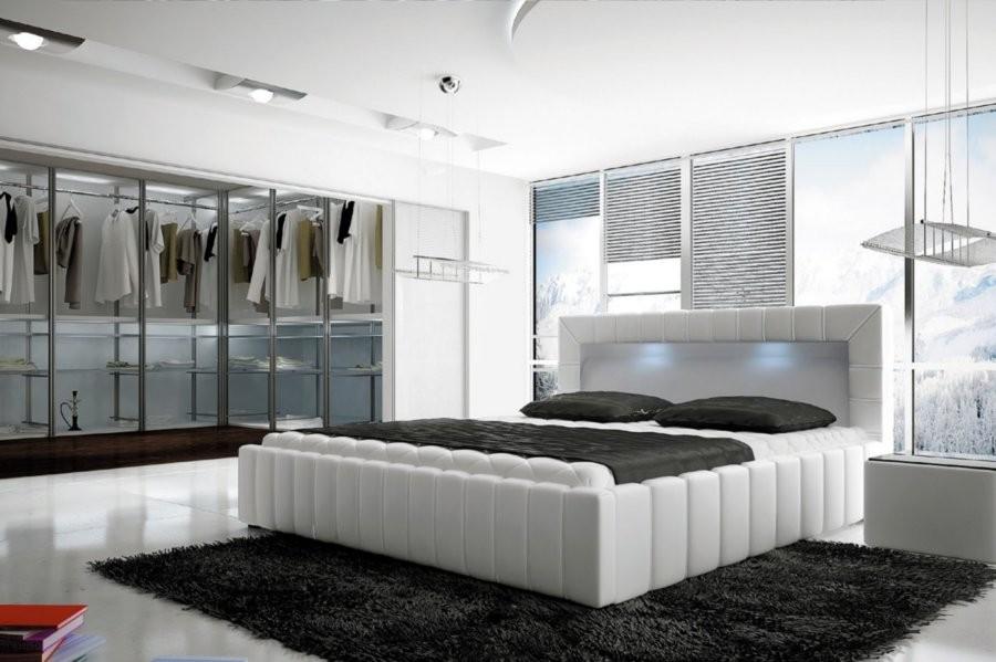 Łóżko tapicerowane Jama z pojemnikiem