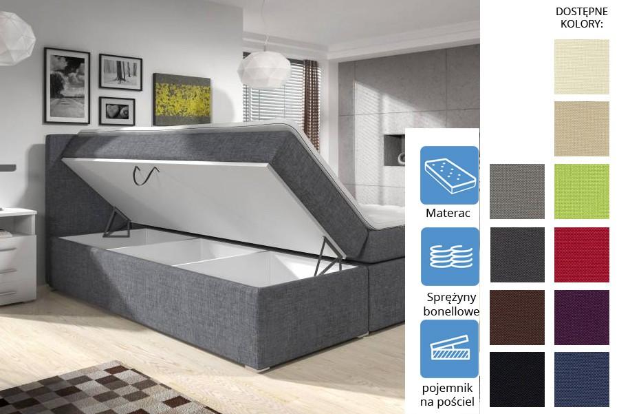 Łóżko Kolorado z pojemnikiem Bonell