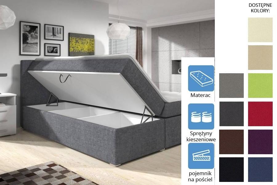 Łóżko Kolorado z pojemnikiem Pocket