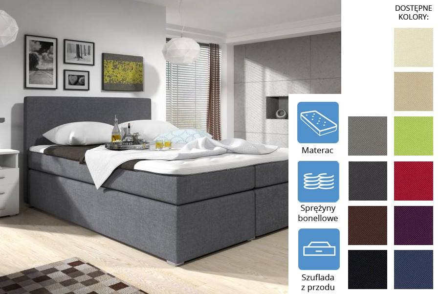 Łóżko Kolorado z szufladami z przodu Bonell