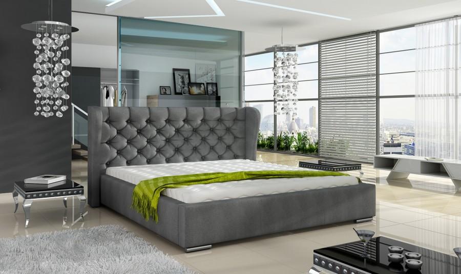 Łóżko tapicerowane Laon z pojemnikiem
