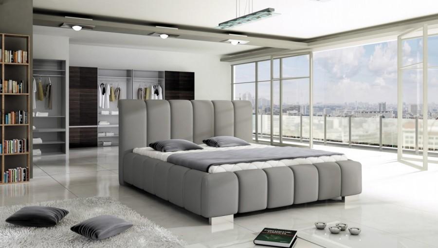 Łóżko tapicerowane Oise z pojemnikiem