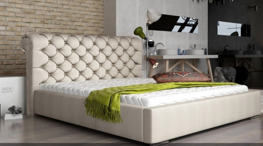 Łóżko tapicerowane Loos