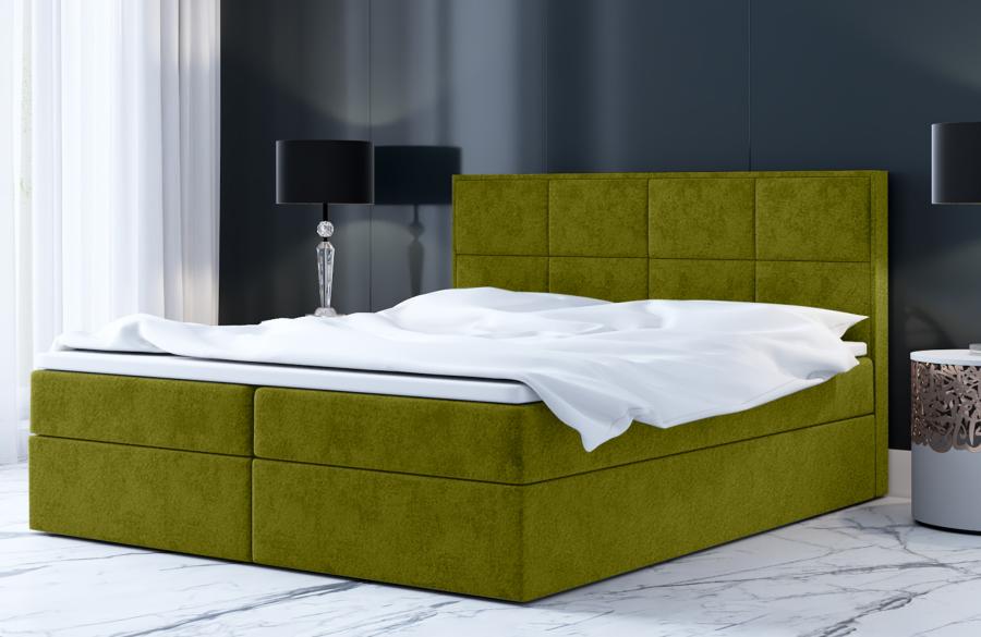 Łóżko kontynentalne MOLDE zielone casablanca