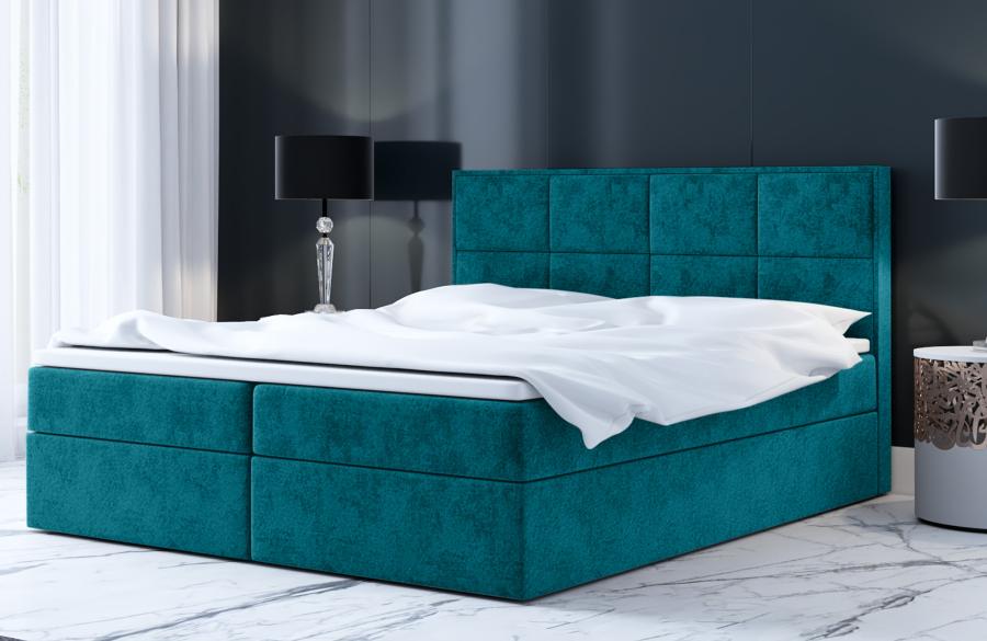 Łóżko kontynentalne MOLDE niebieskie casablanca