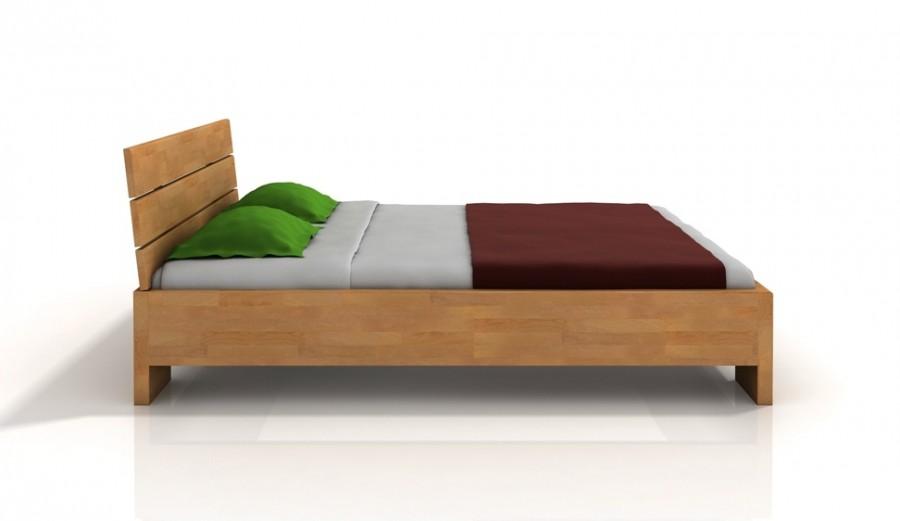 łóżko Drewniane Arhus High Bc Buk łóżka Materace Dla