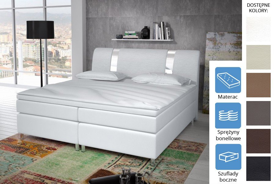 Łóżko Missisipi z szufladami bocznymi Bonell