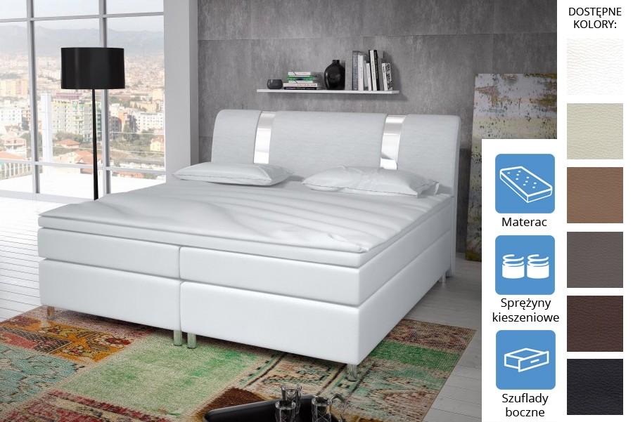Łóżko Missisipi z szufladami bocznymi Pocket