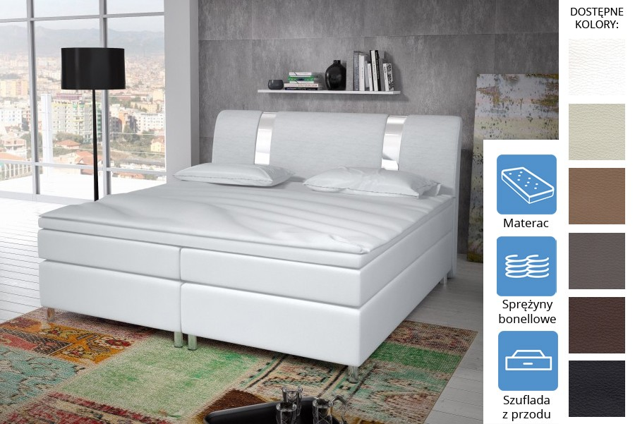 Łóżko Missisipi z szufladami z przodu Bonell