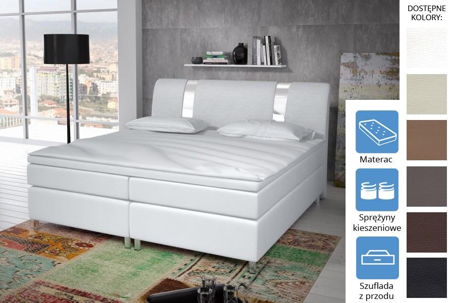 Łóżko Missisipi z szufladami z przodu Pocket