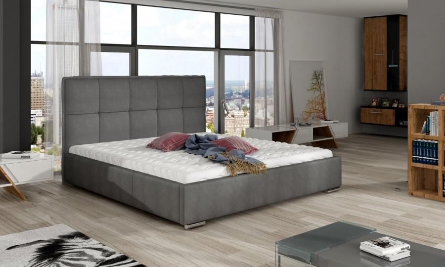 Łóżko tapicerowane Muret z pojemnikiem