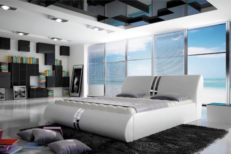 Łóżko tapicerowane Odyn z pojemnikiem