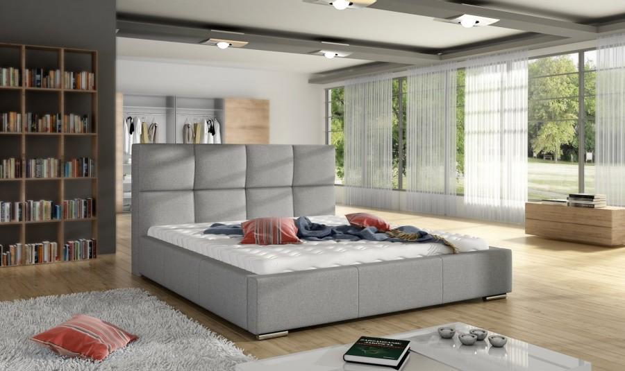 Łóżko tapicerowane Olivet z pojemnikiem