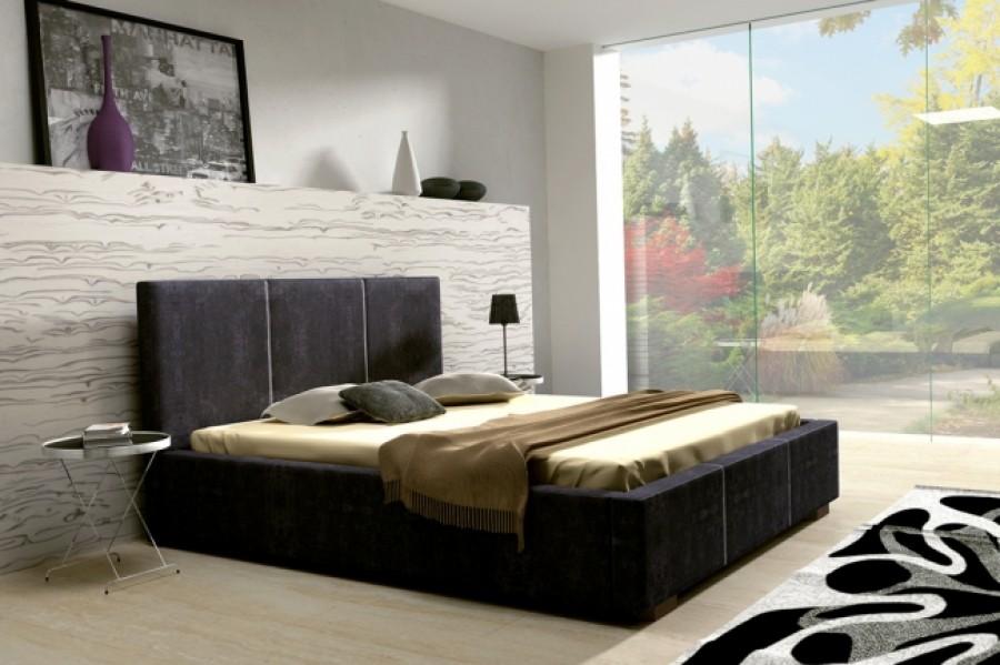 Łóżko tapicerowane Paryż z pojemnikiem
