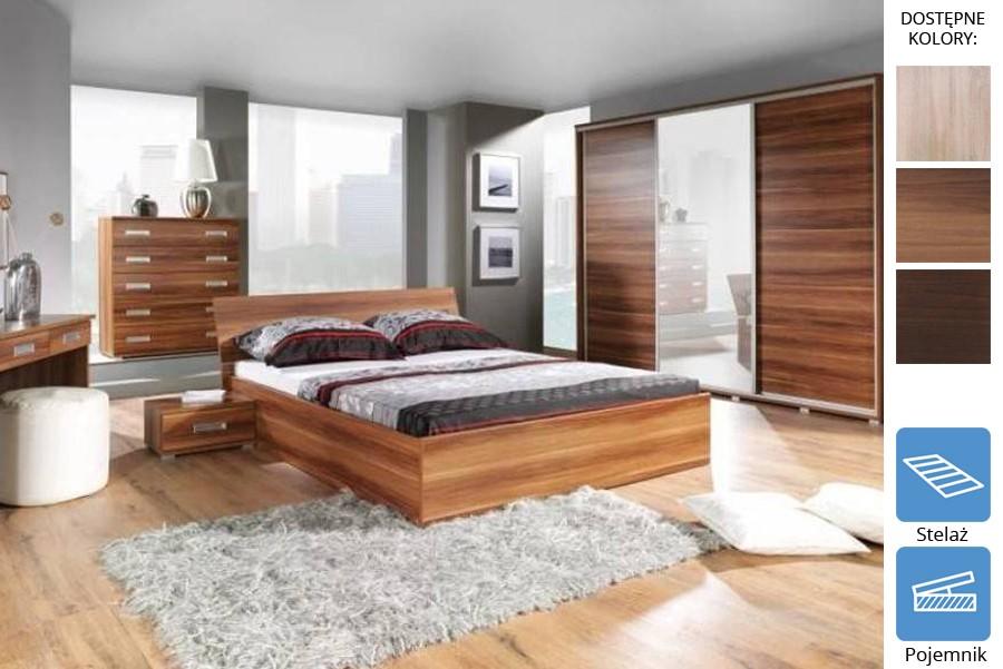 Łóżko z płyty Ride z pojemnikiem