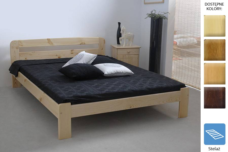 Łóżko drewniane Ryga