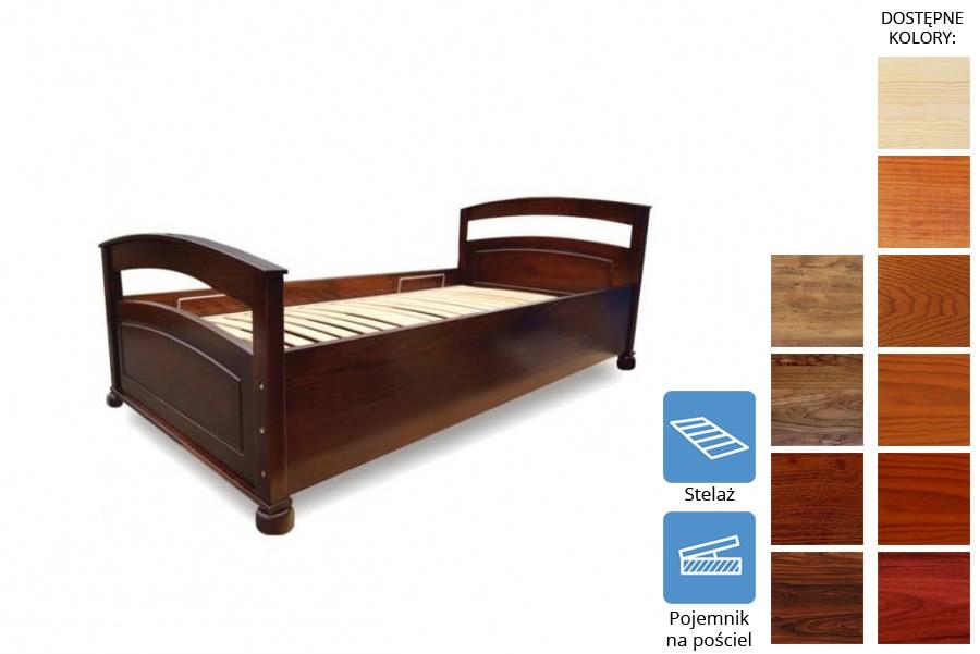 Łóżko drewniane Towa z pojemnikiem