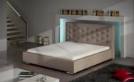 Łóżko tapicerowane Albi z pojemnikiem