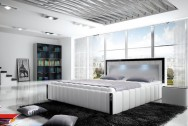 Łóżko tapicerowane Apas z pojemnikiem