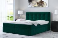 Łóżko kontynentalne ASKIM  zielone monolith