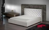 Łóżko tapicerowane Bastia z pojemnikiem