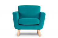 Fotel DINA turkusowy