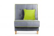 Fotel FLORENCE  szary/zielony