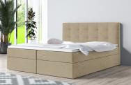 Łóżko kontynentalne ASKIM ecru casablanca