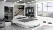 Łóżko tapicerowane Indre z pojemnkiem