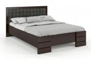 Łóżko drewniane Goti z pojemnikiem palisander