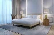 Łóżko tapicerowane HORTEN ecru monolith