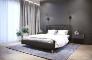 Łóżko tapicerowane HORTEN ciemnoszare monolith