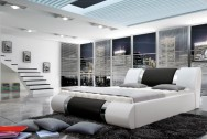 Łóżko tapicerowane Kandro z pojemnikiem