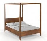 Łóżko drewniane Klara z baldachimem- sosna