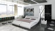 Łóżko tapicerowane Landy z pojemnikiem