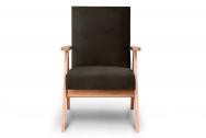 Fotel SAPET brązowy/jasny dąb
