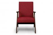 Fotel SAPET bordowy/ciemny orzech